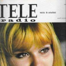 Coleccionismo de Revista Teleprograma: REVISTA TELE RADIO Nº 413, 22-28 NOVIEMBRE 1965, LAURA ULMER, BORIS KARLOFF EN PAGINAS INTERIORES. Lote 194691510