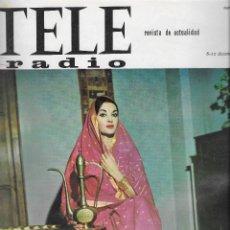 Coleccionismo de Revista Teleprograma: REVISTA TELE RADIO Nº 415, 6-12 DICIEMBRE 1965, MIKAELA, ALFRED HITCHCOCK PAGINAS INTERIORES. Lote 194691963