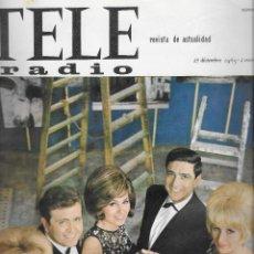 Coleccionismo de Revista Teleprograma: REVISTA TELE RADIO Nº 418, 27 DIC - 2 ENERO 1966, FIESTA DE FIN DE AÑO, SALOME, SACHA DISTEL. Lote 194939906