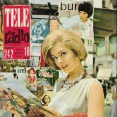 Coleccionismo de Revista Teleprograma: REVISTA TELE RADIO Nº 242, 13-19 AGOSTO 1962, ANNE HEATH, ISABEL BAUZÁ, BRIGITTE BARDOT. Lote 194940403