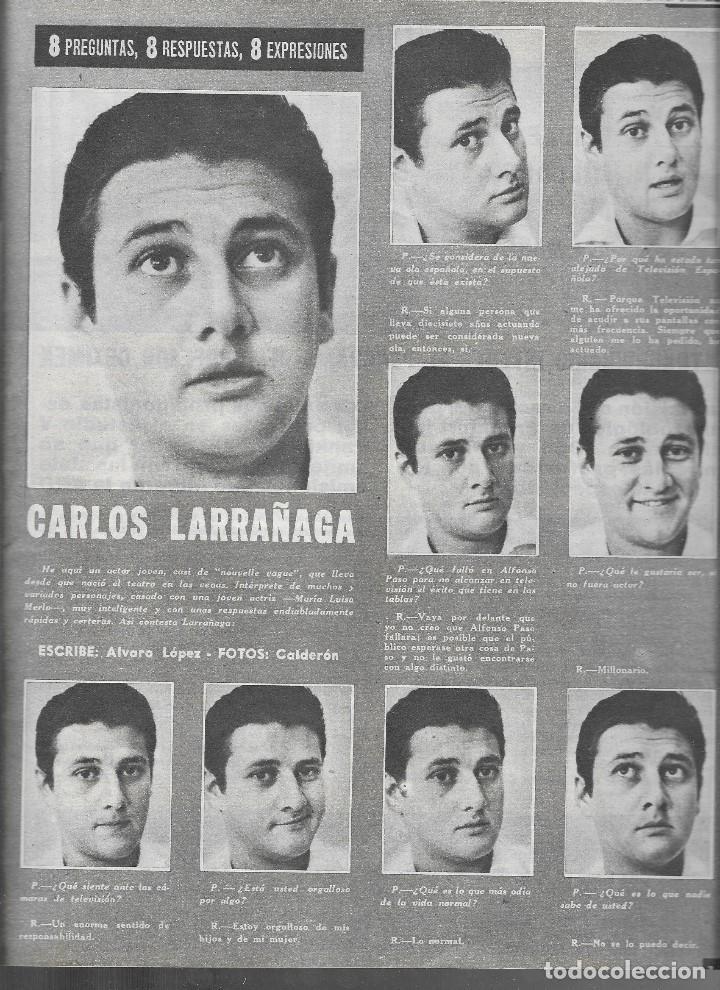 Coleccionismo de Revista Teleprograma: REVISTA TELE RADIO Nº 289, 8-14 JULIO 1963, CAROLINA CROWNSTEDT, CARLOS LARRAÑAGA - Foto 2 - 194965970
