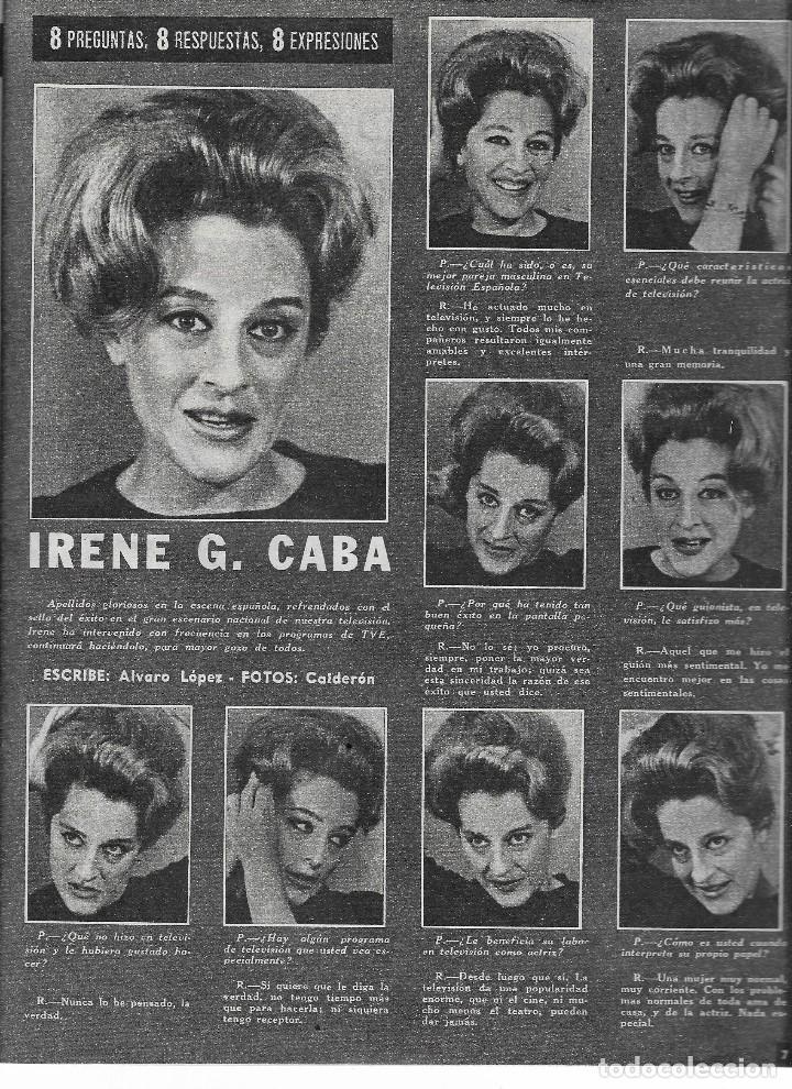 Coleccionismo de Revista Teleprograma: REVISTA TELE RADIO Nº 288, 1-7 JULIO 1963, JOSE BODALO, IRENE GUTIERREZ CABA EN PAGINAS INTERIORES - Foto 2 - 194991537