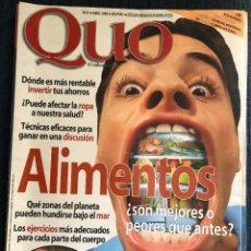 Coleccionismo de Revista Teleprograma: REVISTA 'QUO', Nº 31. ABRIL 1998. ALIMENTOS. 172 PÁGINAS. MUY BUEN ESTADO.. Lote 195151468