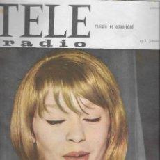 Coleccionismo de Revista Teleprograma: REVISTA TELE RADIO Nº 373, 15-21 FEBRERO 1965, MARISOL, CONCHITA BAUTISTA. Lote 195161561