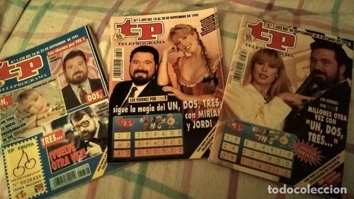 LOTE 3 REVISTAS TP TELEPROGRAMA UN DOS TRES RESPONDA OTRA VEZ AÑOS 1991, 1992, 1993 (Coleccionismo - Revistas y Periódicos Modernos (a partir de 1.940) - Revista TP ( Teleprograma ))