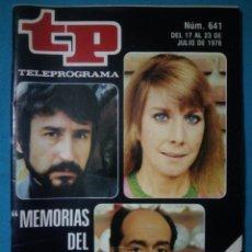 Colecionismo da Revista Teleprograma: TELEPROGRAMA TP ( JULIO 1978) №641. Lote 195778806