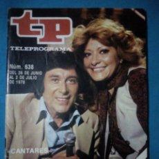 Colecionismo da Revista Teleprograma: TELEPROGRAMA TP ( DE JUNIO A JULIO 1978) №638. Lote 195784067