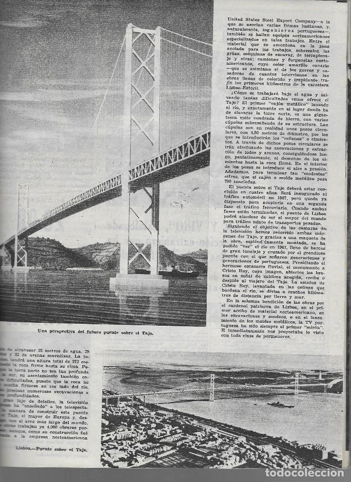 Coleccionismo de Revista Teleprograma: REVISTA TELE RADIO Nº 268, 11-17 FEBRERO 1963, JESUS ALVAREZ, EL PUENTE SOBRE EL RIO TAJO - Foto 2 - 196248792