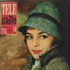 Coleccionismo de Revista Teleprograma: REVISTA TELERADIO Nº 215, 5-11 FEBRERO 1962 MARIA JOSE ALFONSO.. Lote 196249365