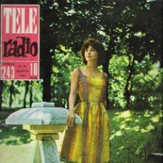 Coleccionismo de Revista Teleprograma: REVISTA TELE RADIO Nº 243, 20-26 AGOSTO 1962, NATALIA RANDAL, DOMENICO MODUGNO EN PAGINAS INTERIORES. Lote 196564790