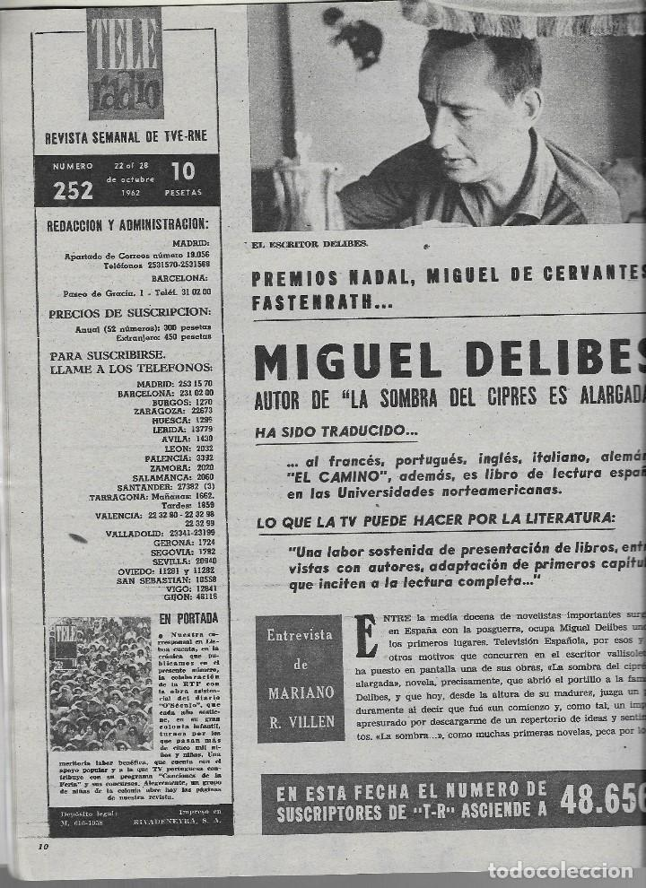 Coleccionismo de Revista Teleprograma: REVISTA TELE RADIO Nº 252, NIÑOS PORTUGUESES, MIGUEL DELIBES, ROCIO DURCAL EN PAGINAS INTERIORES - Foto 2 - 196567863