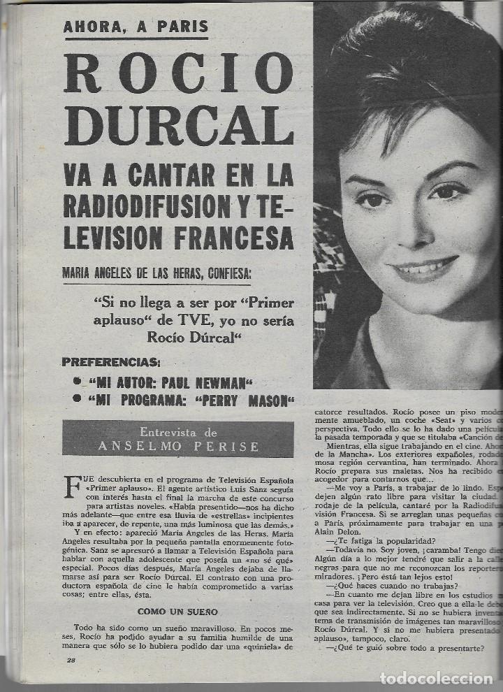 Coleccionismo de Revista Teleprograma: REVISTA TELE RADIO Nº 252, NIÑOS PORTUGUESES, MIGUEL DELIBES, ROCIO DURCAL EN PAGINAS INTERIORES - Foto 3 - 196567863
