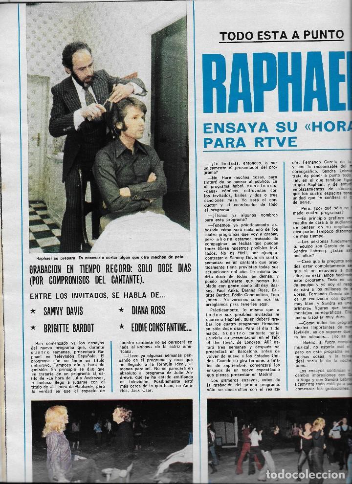 Coleccionismo de Revista Teleprograma: REVISTA TELE RADIO Nº 897 JOSE MARIA IÑIGO, MASSIEL, RAPHAEL, PACO DE LUCIA EN PAGINAS INTERIORES - Foto 3 - 196568308