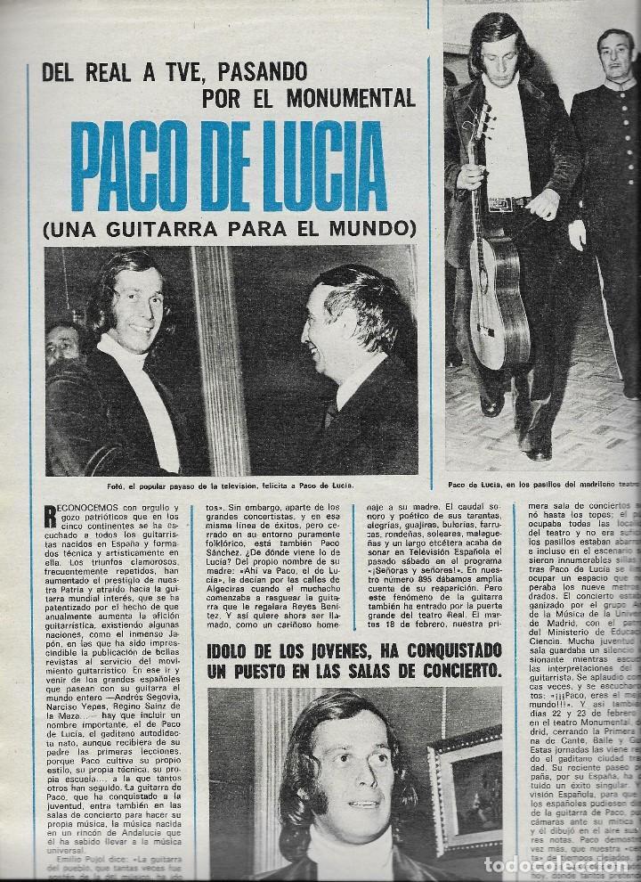 Coleccionismo de Revista Teleprograma: REVISTA TELE RADIO Nº 897 JOSE MARIA IÑIGO, MASSIEL, RAPHAEL, PACO DE LUCIA EN PAGINAS INTERIORES - Foto 4 - 196568308