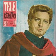Coleccionismo de Revista Teleprograma: REVISTA TELE RADIO Nº 257, ESPARTACO SANTONI, IBI LA CUIDAD DEL JUGUETE EN PAGINAS INTERIORES,. Lote 196748150