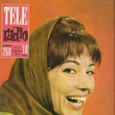 Coleccionismo de Revista Teleprograma: REVISTA TELE RADIO Nº 260, NURIA TORRAY, MARLENE DIETRICH, JOHNNY HALLYDAY EN PAGINAS INTERIORES,. Lote 196750551