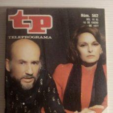 Coleccionismo de Revista Teleprograma: REVISTA TP TELEPROGRAMA NUMERO 562 MARSILLACH Y LA SRA.GARCIA AÑO 1977. Lote 196807680