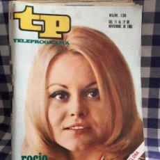 Coleccionismo de Revista Teleprograma: REVISTA TP TELEPROGRAMA N°136 ROCIO DURCAL. Lote 197182962