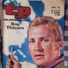 Coleccionismo de Revista Teleprograma: REVISTA TP TELEPROGRAMA N°142 ROY THINNES. Lote 197183131