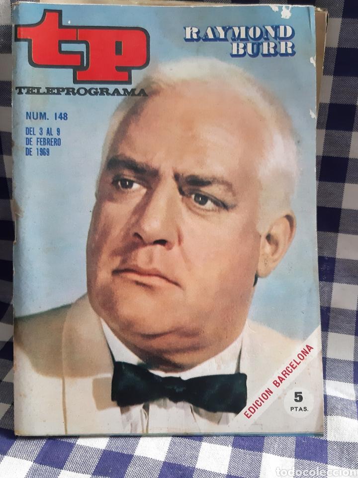 REVISTA TP TELEPROGRAMA N°148 RAYMOND BURR (Coleccionismo - Revistas y Periódicos Modernos (a partir de 1.940) - Revista TP ( Teleprograma ))