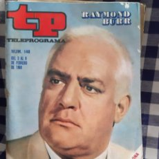 Coleccionismo de Revista Teleprograma: REVISTA TP TELEPROGRAMA N°148 RAYMOND BURR. Lote 197183712