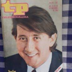 Coleccionismo de Revista Teleprograma: REVISTA TP TELEPROGRAMA N°137 LUIS AGUILE. Lote 197184040