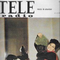 Coleccionismo de Revista Teleprograma: REVISTA TELE RADIO Nº 426, CLAUDIA CARDINALE, MIREILLE MATHIEU EN PAGINAS INTERIORES. Lote 198635415