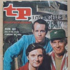 Coleccionismo de Revista Teleprograma: TELEPROGRAMA Nº 881 MASH, ALAN ALDA (1983). Lote 199700313