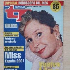 Coleccionismo de Revista Teleprograma: TELEPROGRAMA Nº 1820 LINA MORGAN (2001). Lote 199700395