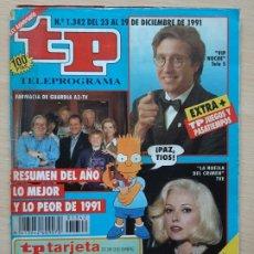 Coleccionismo de Revista Teleprograma: TELEPROGRAMA Nº 1342 LO MEJOR Y LO PEOR DEL AÑO (1991). Lote 199700500