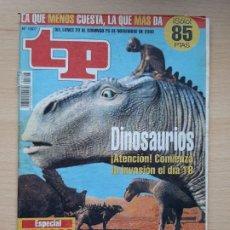 Coleccionismo de Revista Teleprograma: TELEPROGRAMA Nº 1807 DINOSAURIO (2000). Lote 199700550