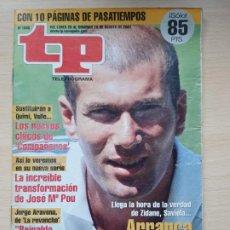 Coleccionismo de Revista Teleprograma: TELEPROGRAMA Nº 1846 ZINEDINE ZIDANE (2001). Lote 199700752