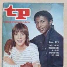 Coleccionismo de Revista Teleprograma: TELEPROGRAMA Nº 921 TOCATA - MERCEDES RESINO, EDDIE CALIXTO (1983). Lote 199702421