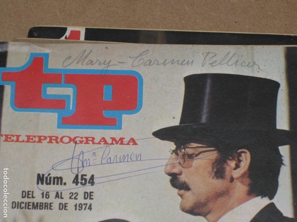 Coleccionismo de Revista Teleprograma: Lote 15 revistas teleprogramas tp. - Foto 12 - 202942665
