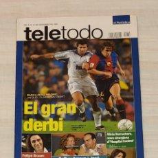 Coleccionismo de Revista Teleprograma: REVISTA TELETODO. EL GRAN DERBI BARÇA & REAL MADRID. PELÍCULA STAR WARS. LA AMENAZA FANTASMA. Lote 203005108