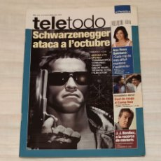 Coleccionismo de Revista Teleprograma: REVISTA TELETODO OCTUBRE 2003. ARNOLD SCHWARZENEGGER. TERMINATOR. Lote 203005350