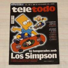 Coleccionismo de Revista Teleprograma: REVISTA TELETODO LOS SIMPSON 16 TEMPORADAS. NOVIEMBRE 2005. Lote 203009398