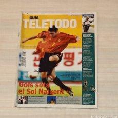 Coleccionismo de Revista Teleprograma: REVISTA TELETODO MUNDIAL 2002. EL PERIÓDICO. Lote 203011642