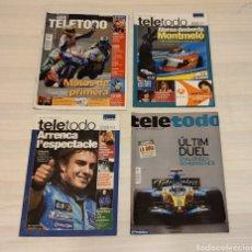 Coleccionismo de Revista Teleprograma: 4 REVISTAS TELETODO. ALONSO. MONTMELÓ. MOTOS DE PRIMERA. Lote 203011655