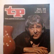 """Colecionismo da Revista Teleprograma: REVISTA TP TELEGRAMA NUMERO 548 JESUS PUENTE EN """"LOS MISTERIOS DE PARIS"""" AÑO 1976. Lote 203082075"""