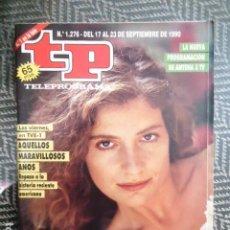 Colecionismo da Revista Teleprograma: TP TELEPROGRAMA Nº 1276 VUELVE FALCON CREST CON ASSUMPTA SERNA - 1990. Lote 204830570