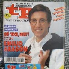 Collezionismo di Rivista Teleprograma: TP TELEPROGRAMA Nº 1401 EMILIO ARAGON - QUE NOCHE, NOCHE - 1993. Lote 205051488