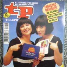 Collezionismo di Rivista Teleprograma: TP TELEPROGRAMA Nº 1404 LAS VIRTUDES - 1993. Lote 205051707