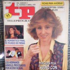 Collezionismo di Rivista Teleprograma: TP TELEPROGRAMA Nº 1409 MERCEDES MILLA - 1993. Lote 205052278