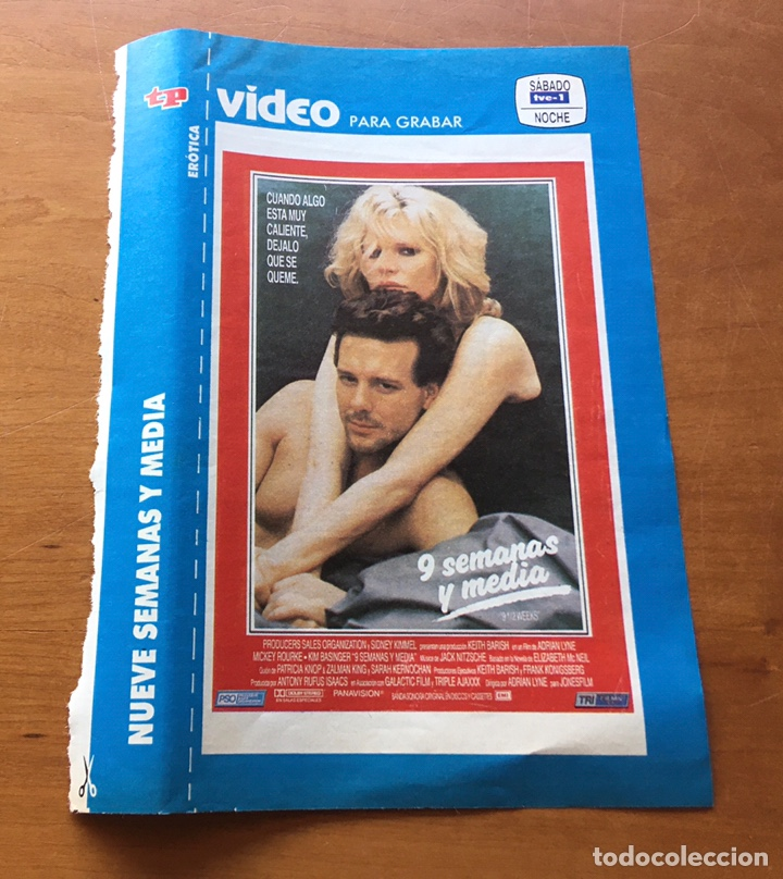 Coleccionismo de Revista Teleprograma: Colección de 17 Carátulas películas VHS revista Teleprograma - Foto 4 - 205145931