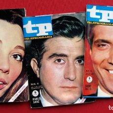 Coleccionismo de Revista Teleprograma: TP. TELEPROGRAMA. MUY DIFÍCILES. 3 NÚMEROS: 42-45-56. AÑO: 1967. BUEN ESTADO.. Lote 205321060