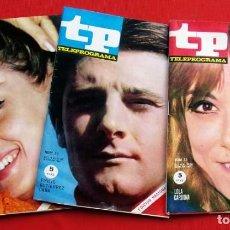 Coleccionismo de Revista Teleprograma: TP. TELEPROGRAMA. MUY DIFÍCILES. 3 NÚMEROS: 55-57-58. AÑO: 1967. BUEN ESTADO.. Lote 205324142