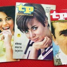 Coleccionismo de Revista Teleprograma: TP. TELEPROGRAMA. MUY DIFÍCILES. 3 NÚMEROS: 26-60-82. AÑOS: 1966 Y 67. BUEN ESTADO.. Lote 205377275