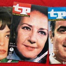 Coleccionismo de Revista Teleprograma: TP. TELEPROGRAMA. MUY DIFÍCILES. 3 NÚMEROS: 48-49-50. AÑO: 1967. BUEN ESTADO.. Lote 205585638