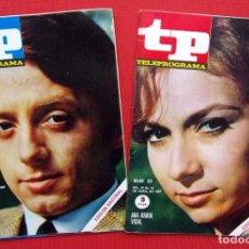 Coleccionismo de Revista Teleprograma: TP. TELEPROGRAMA. MUY DIFÍCILES. 2 NÚMEROS: 53-54. AÑO: 1967. BUEN ESTADO.. Lote 205589536